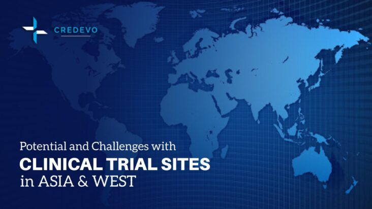 Clinical trial sites in Asia and West