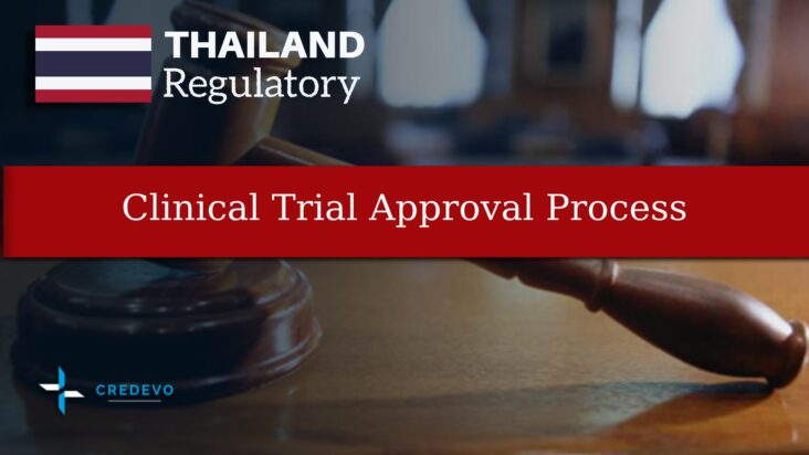 Clinical trial regulatory and approval process in Thailand